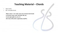Teaching material chords