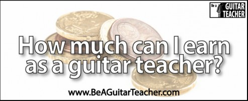 How much can I earn as a guitar teacher